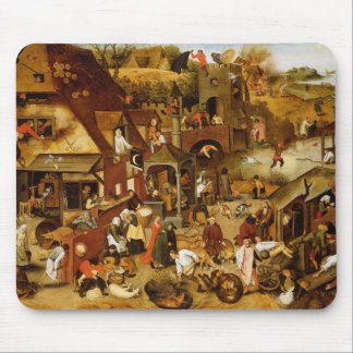 The Flemish Proverbs Mouse Pad
