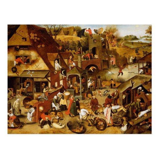 The Flemish Proverbs Postcard