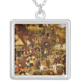 The Flemish Proverbs Silver Plated Necklace