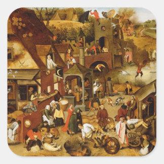 The Flemish Proverbs Square Sticker