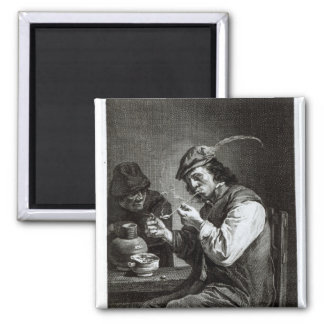 The Flemish Smoker 2 Inch Square Magnet