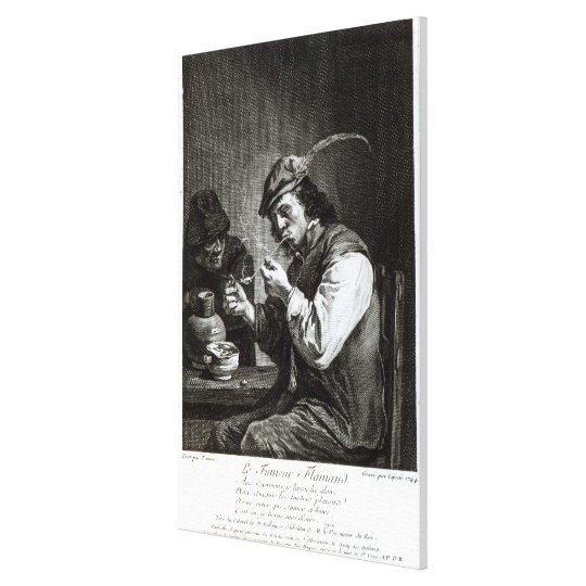 The Flemish Smoker Canvas Print