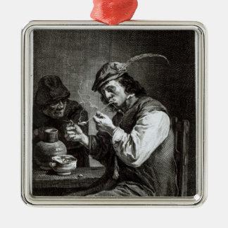 The Flemish Smoker Metal Ornament