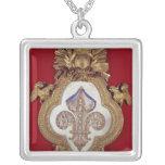 The Fleur de France Square Pendant Necklace