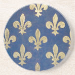 """The fleur-de-lis or fleur-de-lys coaster<br><div class=""""desc"""">he fleur-de-lis or fleur-de-lys is a stylized lily (in French,  fleur means flower,  and lis means lily) or iris that is used as a decorative design or symbol. It may be &quot;at one and the same time,  religious,  political,  dynastic,  artistic,  emblematic,  and symbolic&quot;,  especially in French heraldry.</div>"""