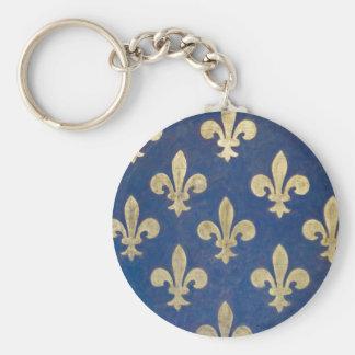 The fleur-de-lis or fleur-de-lys keychain