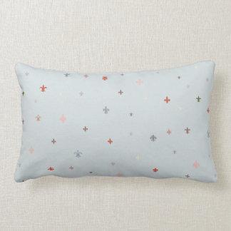 The Fleur-de-Lis - Vintage Pastel Colors Lumbar Pillow