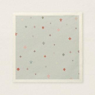 The Fleur-de-Lis - Vintage Pastel Colors Paper Napkin