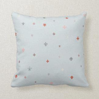 The Fleur-de-Lis - Vintage Pastel Colors Throw Pillow