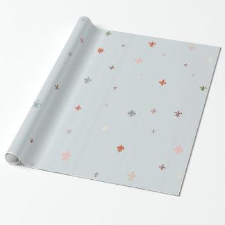 The Fleur-de-Lis - Vintage Pastel Colors Wrapping Paper