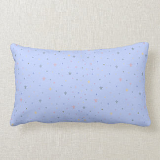 The Fleur-de-Lis - Vintage Pastel Colours Lumbar Pillow