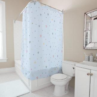 The Fleur-de-Lis - Vintage Pastel Colours Shower Curtain