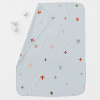 The Fleur-de-Lis - Vintage Pastel Colours Swaddle Blanket
