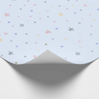 The Fleur-de-Lis - Vintage Pastel Colours Wrapping Paper