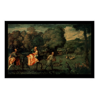 The Flight into Egypt, 1500s Poster