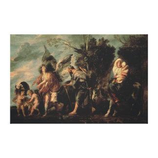 The Flight into Egypt, 17th century Canvas Print