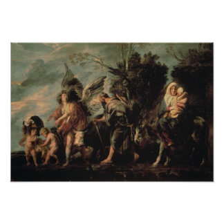The Flight into Egypt, 17th century Poster