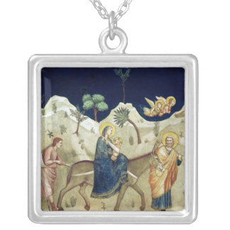 The Flight into Egypt 2 Silver Plated Necklace