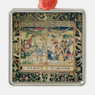 The Flight into Egypt and the Adoration of Metal Ornament