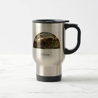 The Flight Into Egypt, By Carracci Annibale 15 Oz Stainless Steel Travel Mug