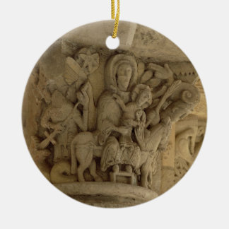 The Flight into Egypt, column capital relief from Ceramic Ornament