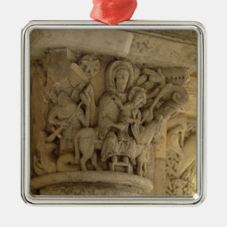 The Flight into Egypt, column capital relief from Metal Ornament