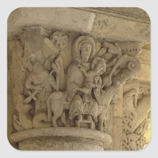 The Flight into Egypt, column capital relief from Square Sticker