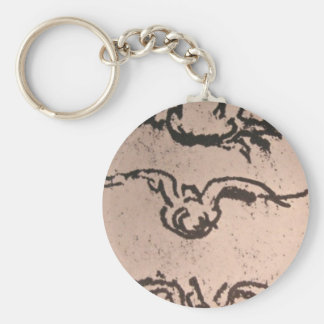 The flight of a bird keychain
