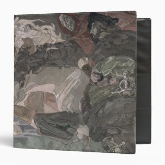 The Flight of Faust and Mephistopheles, 1896 3 Ring Binder