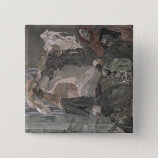 The Flight of Faust and Mephistopheles, 1896 Pinback Button