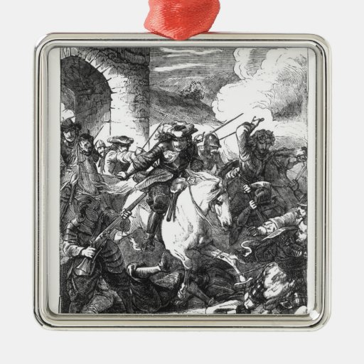 The Flight of Monmouth Metal Ornament