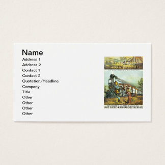 The Flight of The Fast Mail Business Cards