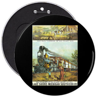 The Flight of The Fast Mail Pinback Button