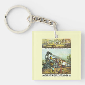 The Flight of The Fast Mail Square Keychain