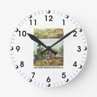 The Flight of The Fast Mail Wall Clock