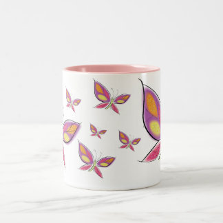 The Flight of the Flutterby Coffee Mugs