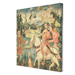 The Flight of the Heron, Franco-Flemish Stretched Canvas Print