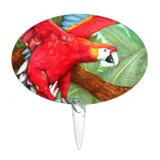 The Flight of the Macaw by Derrick Rathgeber Cake Pick