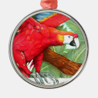 The Flight of the Macaw by Derrick Rathgeber Metal Ornament