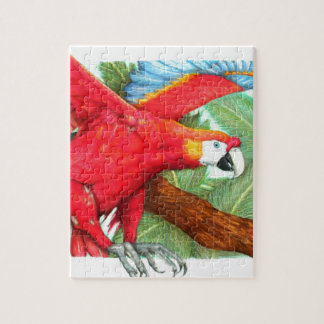 The Flight of the Macaw by Derrick Rathgeber Jigsaw Puzzle