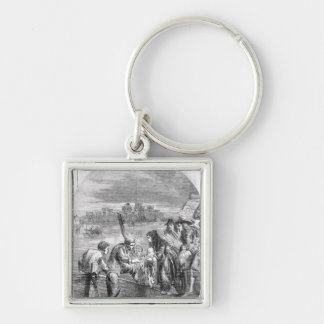 The Flight of the Queen of James II Key Chains