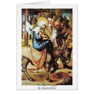 The Flight To Egypt By Albrecht Dürer Card