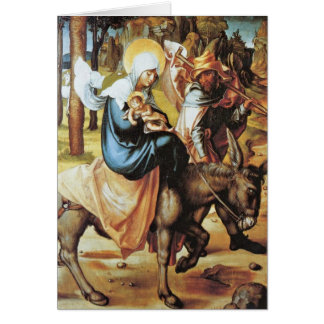 The Flight To Egypt By Albrecht Durer Greeting Card