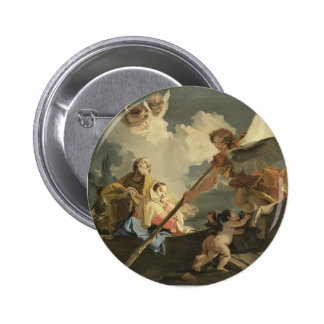 The Flight to Egypt by Giovanni Battista Tiepolo Buttons