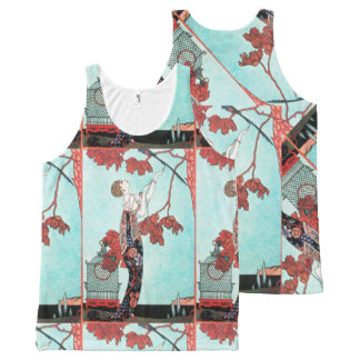 THE FLIGHTY BIRD ,ART DECO BEAUTY FASHION All-Over PRINT TANK TOP