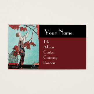 THE FLIGHTY BIRD ,BEAUTY FASHION DESIGNER BUSINESS CARD