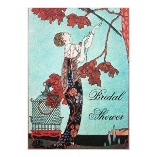THE FLIGHTY BIRD BRIDAL SHOWER PARTY CARD