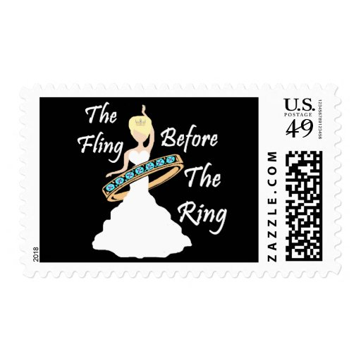 The Fling Before The Ring Black Background Postage