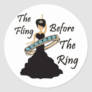 The Fling Before The Ring White Background Sticker