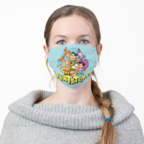 The Flintstones and Rubbles Family Graphic Adult Cloth Face Mask
